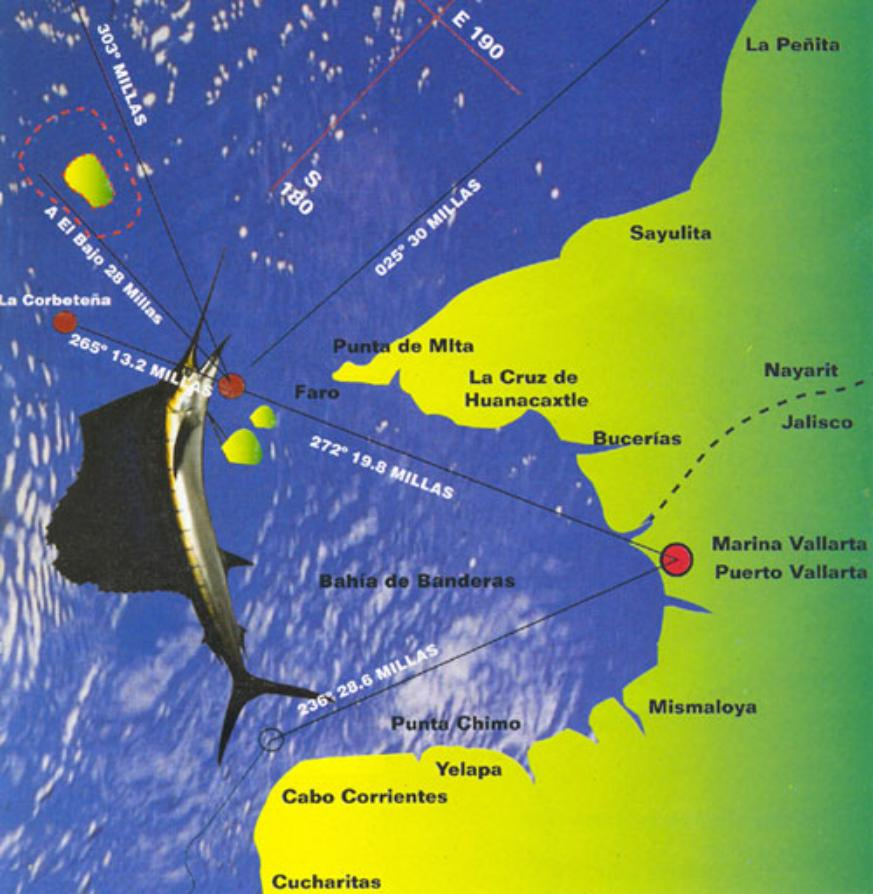 Puerto vallarta fishing map for Fishing puerto vallarta
